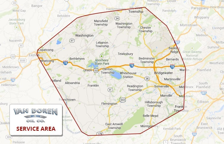 Van Doren services Hunterdon, Somerset, Morris and Warren counties